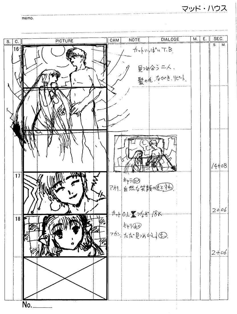 Anime Storyboard Sketch Coloring Page