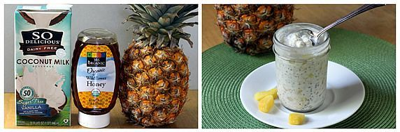 Pineapple Coconut Refrigerator Oatmeal