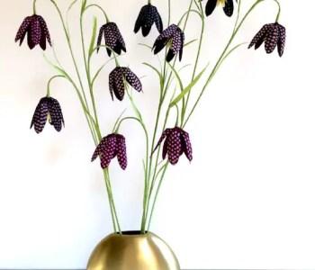 DIY Crepe Paper Fritillaria Tutorial