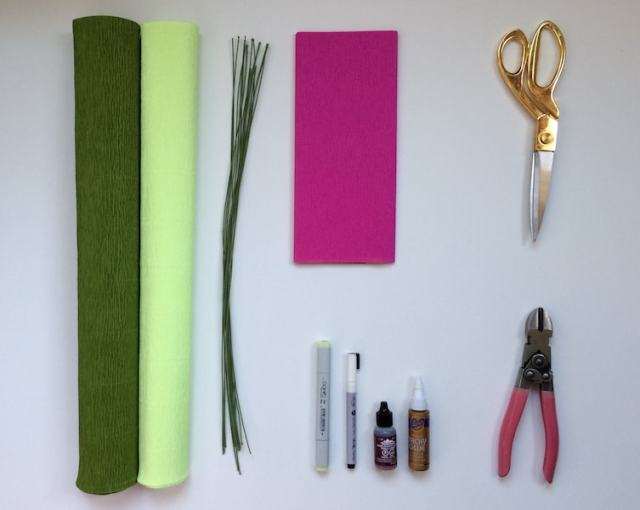 flatlay of project supplies