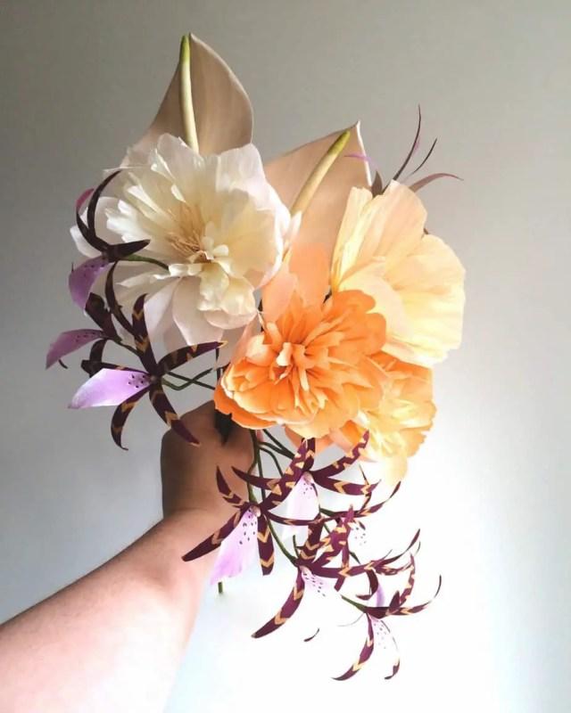 paper flower bouquet