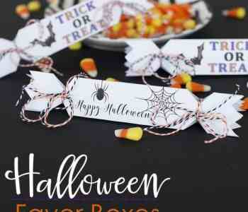 Printable Halloween Favor Boxes