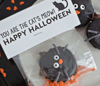 Halloween Cat Oreo Cookies DIY and Printable