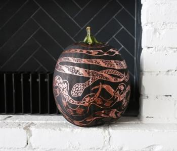 DIY Project: Copper Snakes Pumpkin By Liz Libre