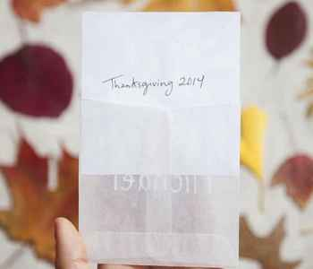 Thanksgiving DIY Projects: Sun-Print Place Cards