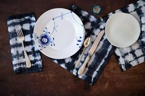 Shibori Napkins Table Setting 05