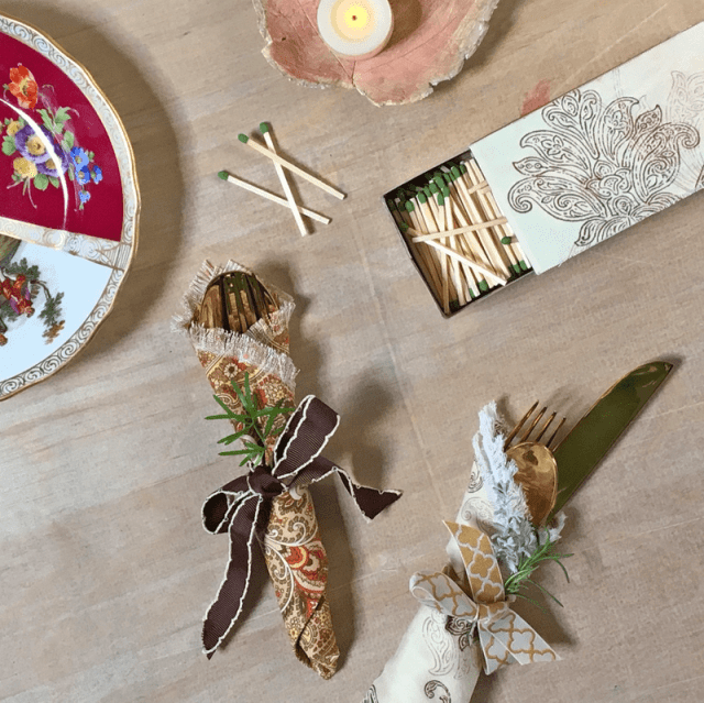 A Simple Strategy For Making Thanksgiving Ribbon & Fabric Embellishment with Waverly Inspirations