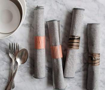 DIY Project: Marbled Paper Napkin Rings