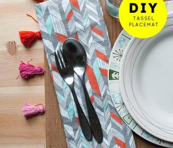2020 Every Day DIY: Ombre Tassel Placemats