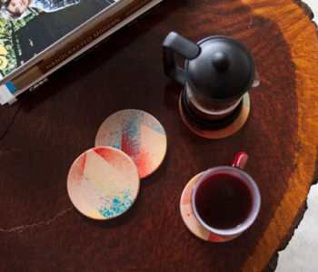 DIY Project: Leather Staining — Coasters