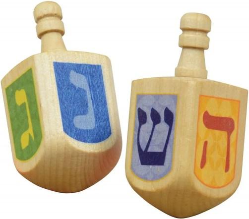 Best Hanukkah Gifts 2019: Wooden Dreidels 2020