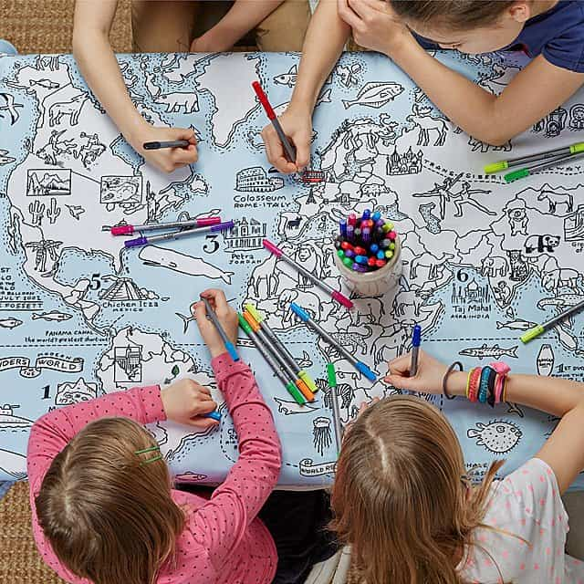 Best Gifts for Kids 2019: Coloring Map Tablecloth 2020
