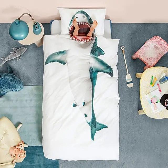 Best Gifts for Kids 2019: Shark Duvet Cover Set 2020