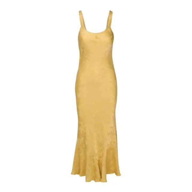 The Allegra Dress in Yellow Dragon