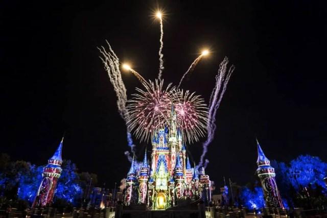 fireworks and lights show at Magic Kingdom, Walt Disney World