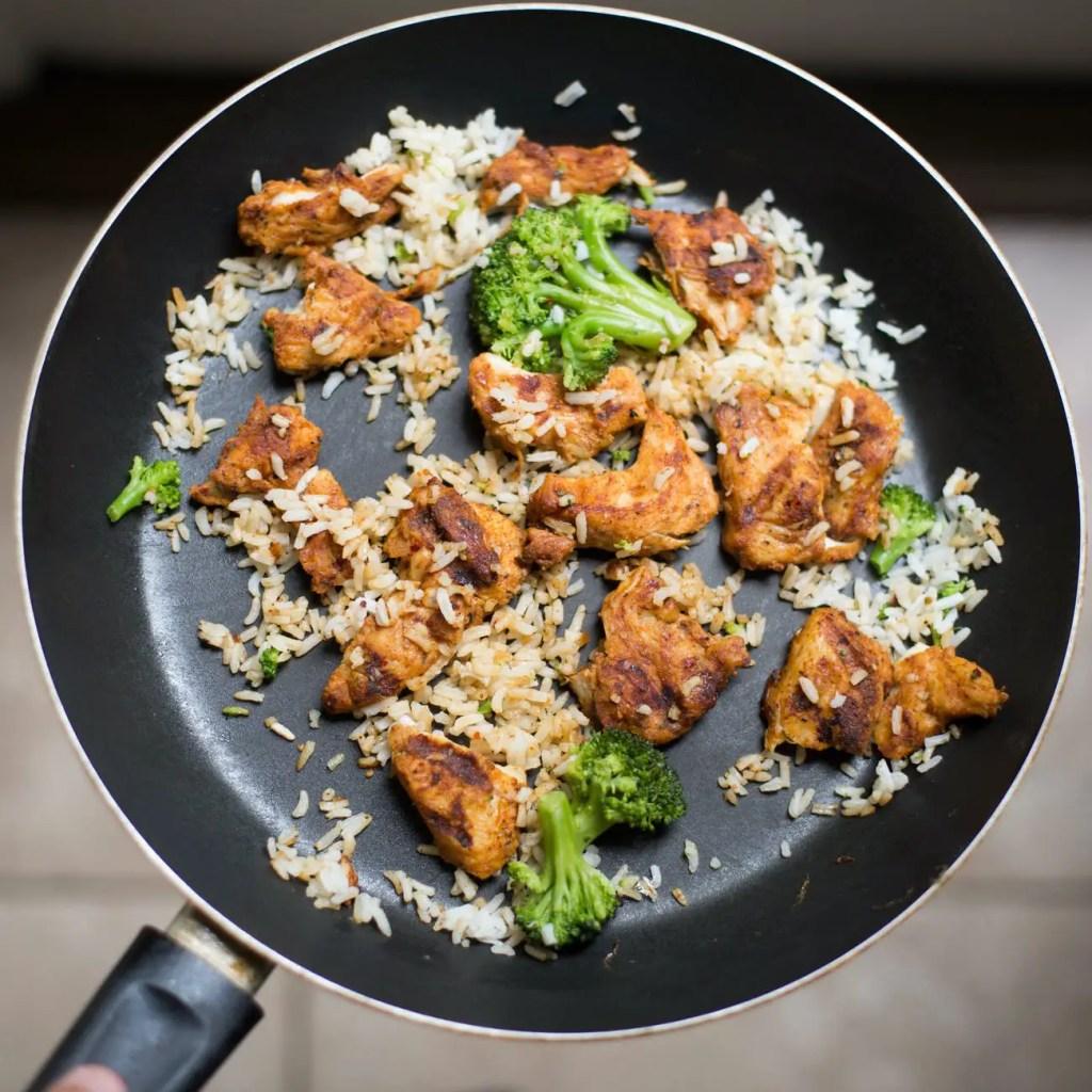 food chicken fresh rice