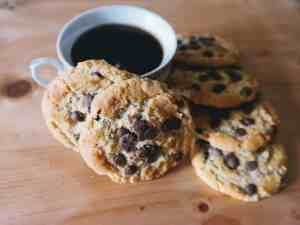 caffeine chocolate chip coffee cookies