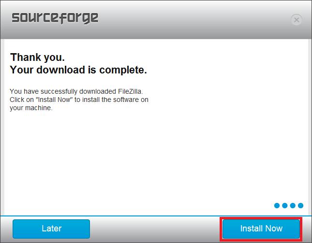 SF FileZilla Alternate Install