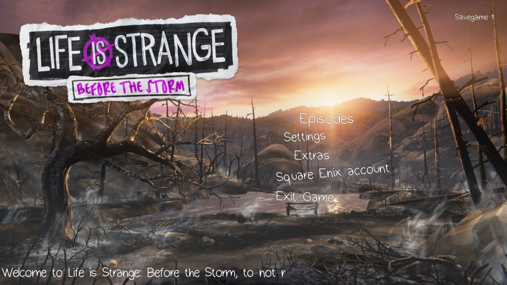 Start game screen at the end