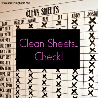 A Sheet For Keeping Track Of CLEAN Sheets