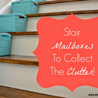 Stair Containers To Collect The Clutter!