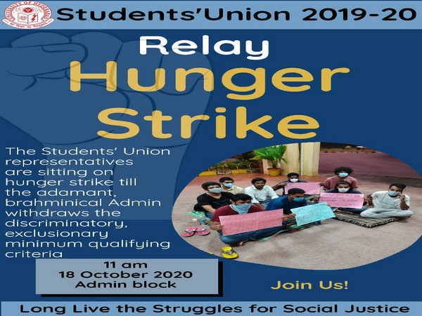 Poster of Student's union calling for hunger strike (Photo/ANI)