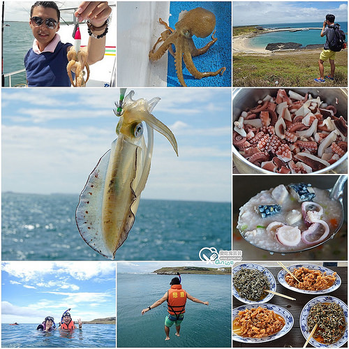 澎湖北海秘境漂流 Day2:船釣石鮔(小章魚)、無人島姑婆嶼、跳水浮潛 @愛吃鬼芸芸