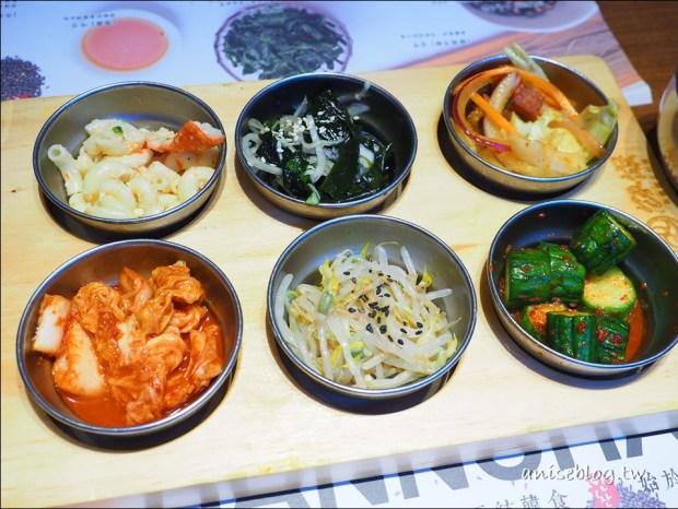 北車美食.飯饌韓式料理,小菜吃到飽,炸雞好吃!