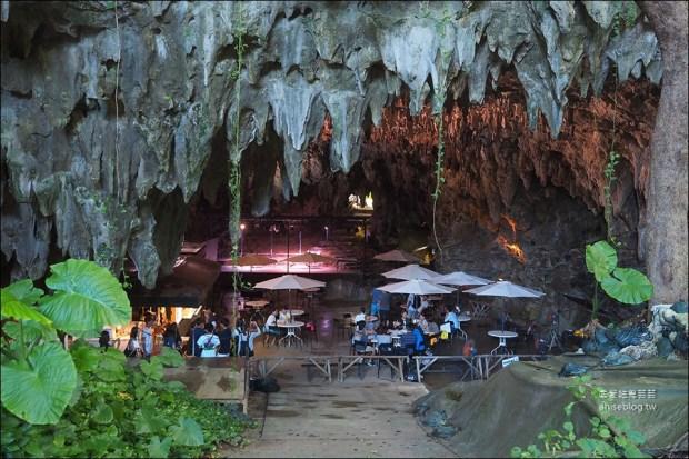 沖繩洞穴咖啡 CAVE CAFE,鐘乳石洞裡喝35咖啡 、順路遊奧武島、龍宮神 @愛吃鬼芸芸