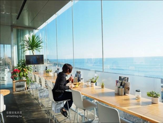SEA BiRDS CAFE,日立車站無敵海景咖啡,懸在太平洋上的玻璃屋,記得好天氣去唷!
