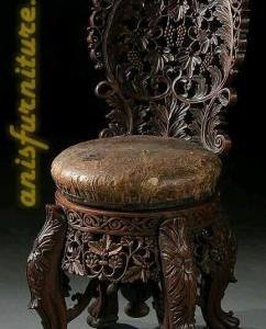 kursi kayu ukiran kuno