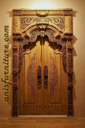 pintu gebyok jawa jati