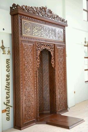 mimbar relief masjid