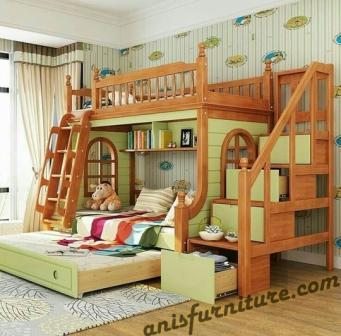 ranjang anak double bed