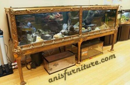 rak aquarium jati mewah
