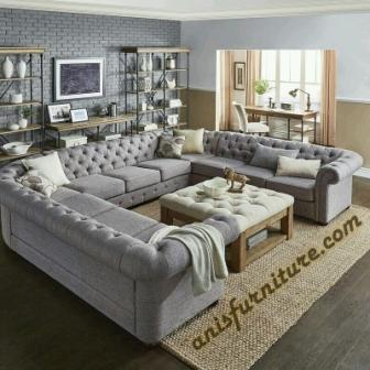 set sofa mewah chester