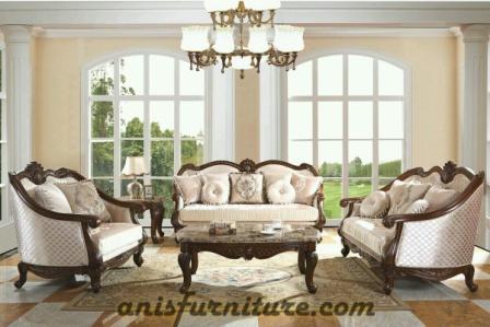 sofa kayu jati mewah