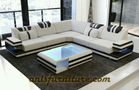 sofa mewah lampu led