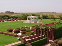 View from suite, Picture-perfect manicured gardens of ...