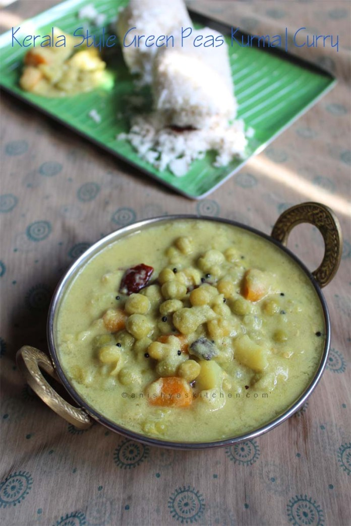 Kerala Style Green Peas Kurma Curry