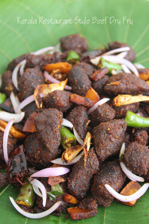Kerala Restaurant Style Beef Dry Fry Recipe, Beef fry, Thattukada Beef Fry