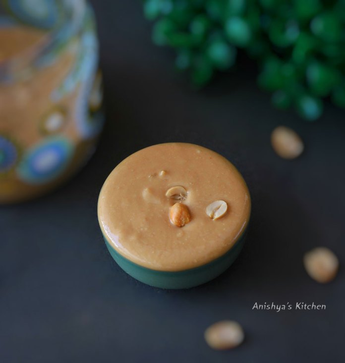 vegan-healthy-homemade-peanut-butter-in-chutney-jar-without-oil-sugar-recipe