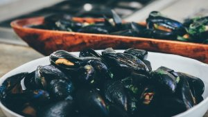 Steamed Jersey Mussels with Ale