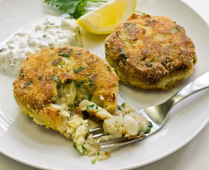 Smoked Haddock, Prawn and Herb Fishcakes