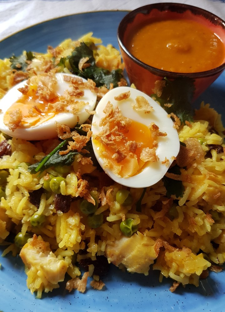 Smoked Haddock Kedgeree with soft boiled egg