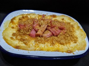 Baked Rice Pudding with Rhubarb