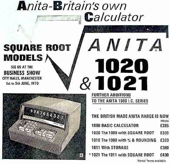 ANITA 1021 Calculator