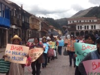 protest march in Cusco