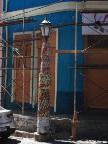 mosaics on the lamp post