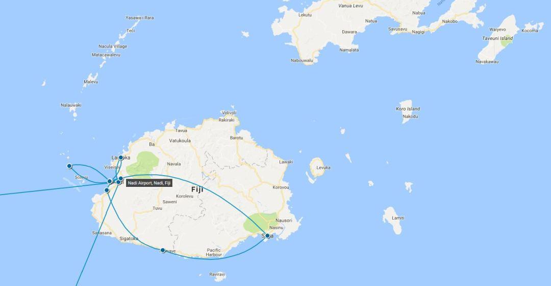 Fiji Map - Traveller's Tales | Ariana's Fiji Family Adventure